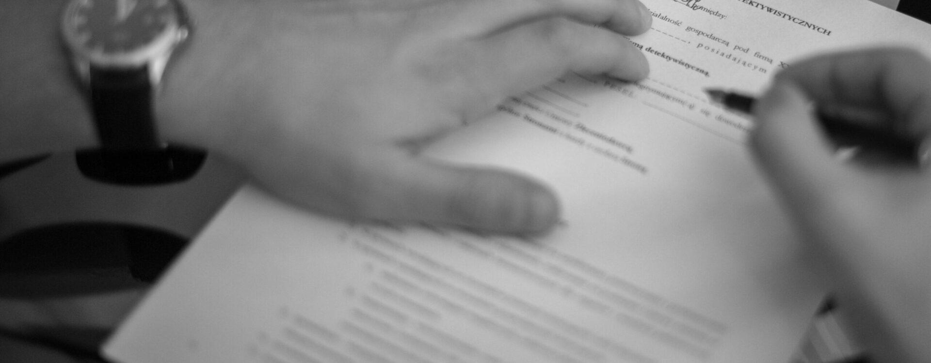 Umowa z agencją detektywistyczną